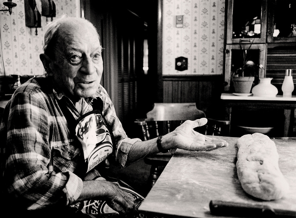 Vincent DeMenno, my grandfather from Pollutri, Italy, explains how to make pasta dough.