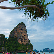Limestone rock at Railay beach, Krabi province, Thailand