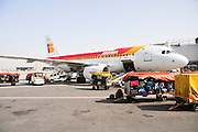 Israel, Ben-Gurion international Airport  Airbus A319 passenger jet on the ground