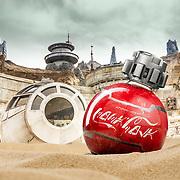 Star Wars 'Thermal Detonator' Coca Cola product photography.