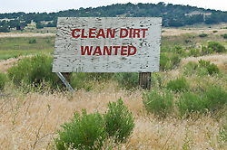 clean dirt wanted sign found in New Mexico