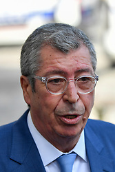 August 9, 2017 - Levallois-Perret, Paris, France - Patrick Balkany mayor of Levallois- Perret came to speak to the press on questions on the site where a vehicle hit soldiers and disappeared in the Paris suburb of Levallois-Perret  on August 9, 2017. (Credit Image: © Julien Mattia/NurPhoto via ZUMA Press)