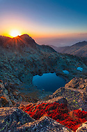 Scenery sunset in the mountain