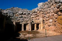 MALTA GOZO GGANTIJA JUL00 - The prehistoric temples of Ggantija, a prehistoric monastery dating back approx. 3000 B.C.. . jre/Photo by Jiri Rezac. . © Jiri Rezac 2000. . Tel:   +44 (0) 7050 110 417. Email: info@jirirezac.com. Web:   www.jirirezac.com