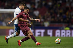 March 22, 2019 - Madrid, Madrid, Spain - Junior Moreno (DC. United) of Venezuela and Walter Kannemann (Gremio) of Argentina competes for the ball during the international friendly match between Argentina and Venezuela at Wanda Metropolitano Stadium in Madrid, Spain on March 22 2019. (Credit Image: © Jose Breton/NurPhoto via ZUMA Press)