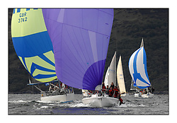 Sailing - The 2007 Bell Lawrie Scottish Series hosted by the Clyde Cruising Club, Tarbert, Loch Fyne..Day 2 racing with light to medium winds from the North west...Class 2 Jeronimo GBR8920T.