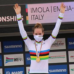 26-09-2020: wielrennen: WK weg vrouwen: Imola<br /> Anna van der Breggen (Netherlands) takes the time trail world title