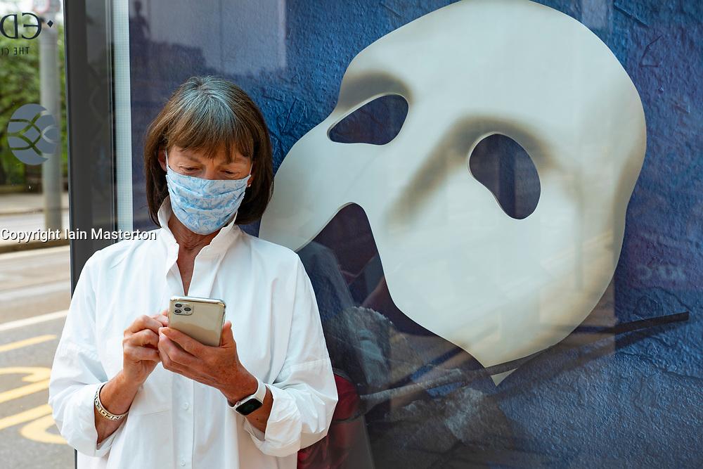 Edinburgh, Scotland, UK. 23 June, 2020. Members of the public wearing face masks on Princes Street in Edinburgh. It is now mandatory for passengers on public transport to wear face masks. Iain Masterton/Alamy Live News