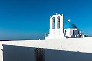 Naousa, Paros, Greece - July 2021: Orthodox Church