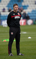Fleetwood Town's Assistant Manager Chris Lucketti during the pre-match warm-up <br /> <br /> Photographer Stephen White/CameraSport<br /> <br /> Football - The Football League Sky Bet League One - Gillingham v Fleetwood Town -  Friday 3rd April 2015 - MEMS Priestfield Stadium - Gillingham<br /> <br /> © CameraSport - 43 Linden Ave. Countesthorpe. Leicester. England. LE8 5PG - Tel: +44 (0) 116 277 4147 - admin@camerasport.com - www.camerasport.com