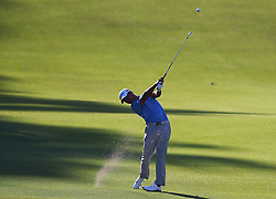 September 24, 2017 - Atlanta, GA, USA - Xander Schauffele hits his fairway shot to the 18th green on his way to a birdie to win the Tour Championship at East Lake Golf Club in Atlanta on Sunday, Sept. 24, 2017. (Credit Image: © Curtis Compton/TNS via ZUMA Wire)