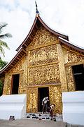 Image of the Royal Carriage House at Wat Xiengthong, Luang Prabang, Laos.