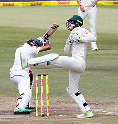 Durban. 040318. Tim Paine during day 4 of the 1st Sunfoil Test match between South Africa and Australia at Sahara Stadium Kingsmead on March 04, 2018 in Durban, South Africa. Picture Leon Lestrade/African News Agency/ANA