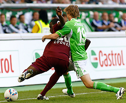 24.09.2011,Volkswagen Arena, Wolfsburg, GER, 1.FBL,VfL Wolfsburg vs 1.FC Kaiserslautern, im Bild Rodnei (Kaiserslautern #20) und Rasmus Joensson (Wolfsburg #19).// during the match from GER, 1.FBL, VfL Wolfsburg vs 1.FC Kaiserslautern on 2011/09/24, Volkswagen Arena, Wolfsburg, Germany..EXPA Pictures © 2011, PhotoCredit: EXPA/ nph/  Schrader       ****** out of GER / CRO  / BEL ******