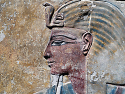 Image of detail of Egyptian relics on display at reopened Neues Museum in Berlin Germany