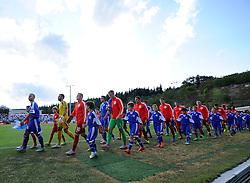 Wayne Rooney of England (Manchester United) leads the team out  - Mandatory byline: Joe Meredith/JMP - 07966386802 - 05/09/2015 - FOOTBALL- INTERNATIONAL - San Marino Stadium - Serravalle - San Marino v England - UEFA EURO Qualifers Group Stage