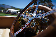 August 14-16, 2012 - Pebble Beach / Monterey Car Week. Classic car steering wheel