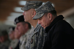 Iraq forces commander General David Petraeus and his immediate subordinate Lt. General ? Odierno attend a change of command ceremony for rotating Polish units in ad-Diwaniyah, a majority Shiia city in southern Iraq. The incoming Polish unit will be the last Polish force to serve in Iraq after Warsaw announced plans to withdraw its troops in the fall. The Polish have third largest national contingent serving in Iraq after the US and Great Britain.Iraq forces commander General David Petraeus and his immediate subordinate Lt. General Raymond Odierno attend a change of command ceremony for rotating Polish units in ad-Diwaniyah, a majority Shiia city in southern Iraq. The incoming Polish unit will be the last Polish force to serve in Iraq after Warsaw announced plans to withdraw its troops in the fall. The Polish have third largest national contingent serving in Iraq after the US and Great Britain.