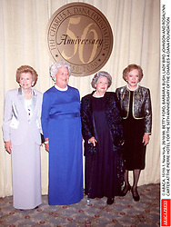 Betty Ford, Barbara Bush, Lady Bird Johnson and Rosalynn Carter at the Pierre Hotel for 50th Anniversary of the Charles a Dana Foundation. Photo by ABACAPRESS.COM