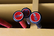 CHAPEL HILL, NC - FEBRUARY 21: Saint John's bats. The University of North Carolina Tar heels hosted the Saint John's University Red Storm on February 21, 2018, at Boshamer Stadium in Chapel Hill, NC in a Division I College Baseball game. St John's won the game 5-2.