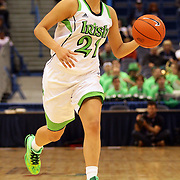 Kayla McBride, Notre Dame, in action during the Notre Dame Fighting Irish V Louisville Cardinals Semi Final match during the Big East Conference, 2013 Women's Basketball Championships at the XL Center, Hartford, Connecticut, USA. 11th March. Photo Tim Clayton