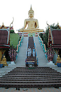 The steps leading up to Big buddha at ko samui island Thailand
