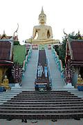 The steps leading up to Big buddha at ko samui island Thailand