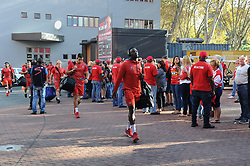 070418 Emirates Airlines Park, Ellis Park, Johannesburg, South Africa. Super Rugby. Lions vs Stormers. The arival of the Lions team. <br />Picture: Karen Sandison/African News Agency (ANA)