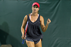 March 26, 2018 - Key Biscayne, FL, U.S. - KEY BISCAYNE, FL - MARCH 26: Danielle Collins (USA) celebrating at the 2018 Miami Open on March 24, 2018 at the Tennis Center at Crandon Park in Key Biscayne, FL. (Photo by Andrew Patron/Icon Sportswire) (Credit Image: © Andrew Patron/Icon SMI via ZUMA Press)