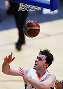 Taylor Hawks Angus Brandt goes for the basket during a match against the Auckland Super City Rangers.<br /> Super City Rangers v Taylor Hawks, NBL NZ, Trusts Arena, Auckland, New Zealand. 7 July 2018. © Copyright Image: Marc Shannon / www.photosport.nz.