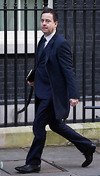 © licensed to London News Pictures. London, UK 04/12/2012. Fraser Nelson, the editor of The Spectator arrives on Downing Street as most editors of the national daily newspapers meeting the Prime Minister David Cameron to discuss ideas for a new system of press regulation. Photo credit: Tolga Akmen/LNP