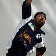 Sri Lanka's Muttiah Muralitharan back in form during nets at Edgbaston.