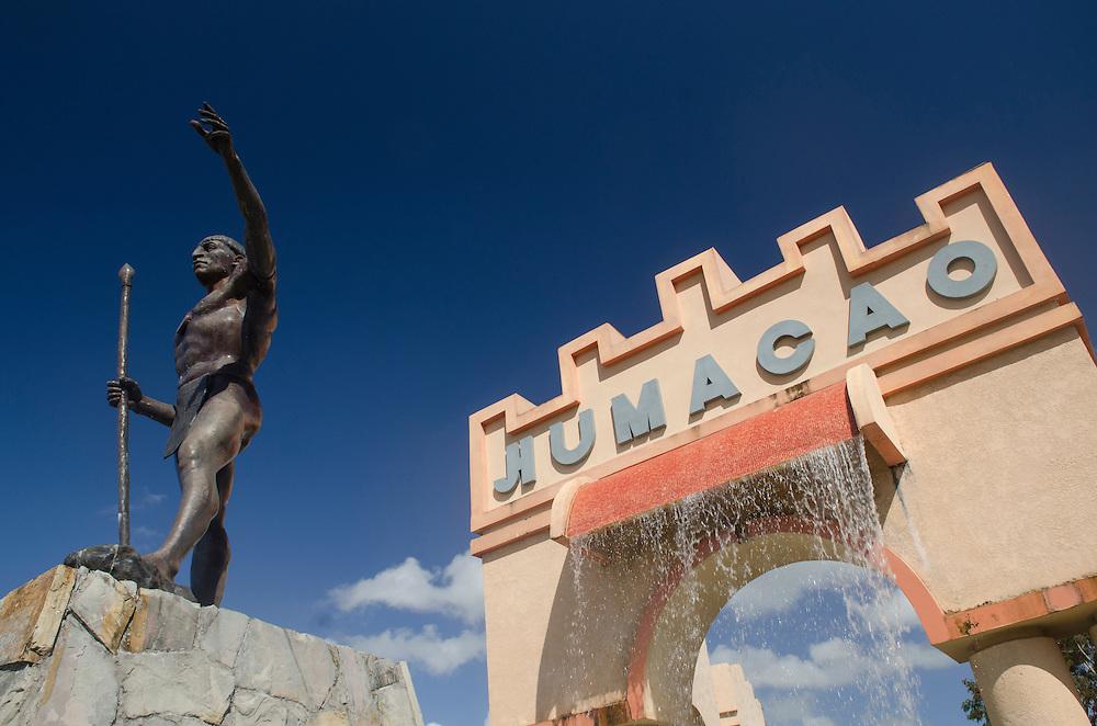 Monumento al Cacique Jumacao en el Municipio de Humacao, Puerto Rico. Monument to Taino indian chief Jumacao at the municipality of Humacao, Puerto Rico