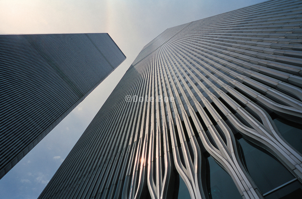 Towers of World Trade Center from below