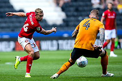 Andi Weimann of Bristol City takes on Jordy de Wijs of Hull City - Mandatory by-line: Robbie Stephenson/JMP - 24/08/2019 - FOOTBALL - KCOM Stadium - Hull, England - Hull City v Bristol City - Sky Bet Championship
