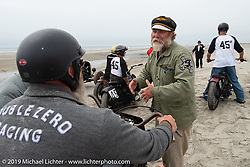 Mel Stultz gives instructions to the racers at TROG (The Race Of Gentlemen). Wildwood, NJ. USA. Sunday June 10, 2018. Photography ©2018 Michael Lichter.