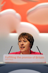 © Licensed to London News Pictures. 26/09/2011. LONDON, UK. Maria Eagle MP, Shadow Secretary of State for Transport at The Labour Party Conference in Liverpool today (26/09/11). Photo credit:  Stephen Simpson/LNP