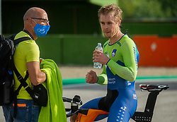 Marko Polanc and Jan Tratnik of Slovenia after the Men Time Trial at UCI Road World Championship 2020, on September 24, 2020 in Imola, Italy. Photo by Vid Ponikvar / Sportida