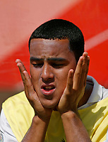 Photo: Glyn Thomas.<br />England v Paraguay. Group B, FIFA World Cup 2006. 10/06/2006.<br /> England's Theo Walcott on the bench.