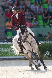 Bassem Hassan Mohammed, (QAT), Primeval Dejavu - First Round Team Competition Jumping Speed - Alltech FEI World Equestrian Games™ 2014 - Normandy, France.<br /> © Hippo Foto Team - Leanjo De Koster<br /> 03-09-14