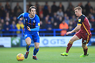 MJ Williams during the EFL Sky Bet League 1 match between Rochdale and Bradford City at Spotland, Rochdale, England on 29 December 2018.