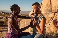 Reiki in the desert therapist portraits and with client.