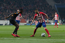 November 22, 2017 - Madrid, Madrid, Spain - Carrasco whit the ball..during Atletico de Madrid won by 2 to 0 whit goals of Griezmann and Gameiro against Roma. (Credit Image: © Jorge Gonzalez/Pacific Press via ZUMA Wire)