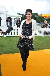 LILY ALLEN at the 2011 Veuve Clicquot Gold Cup Final at Cowdray Park, Midhurst, West Sussex on 17th July 2011.