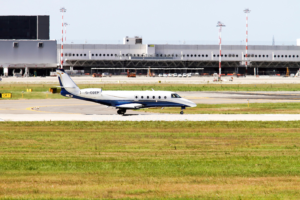 Gulfstream G150 private jet at Milan - Malpensa (MXP / LIMC) Italy