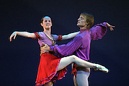 Margaret Tracey and Nikolai Hübke dancing a piece entitled Zakouski, from the New York City Ballet's Diamond Project which is on at the Playhouse as part of the Edinburgh International Festival on 29 and 31st August.