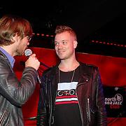 NLD/Amsterdam/20120918 - Cd Box presentatie Doe Maar ,Chiel Beelen met Gers Pardoel