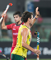 RAIPUR (India) .  Matt Gohdes (Aus) scored .  Hockey Wold League Final  men . AUSTRALIA v BELGIUM.   © Koen Suyk/Treebypictures