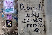 2020-02-18 Kraków. Graffiti na ul. Bożegoi Ciała na Krakowskim Kazimierzu.