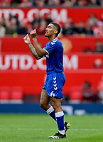 Football - 2021 / 2022 Pre-Season Friendly - Manchester United vs Everton - Old Trafford - Saturday 7th August 2021<br /> <br /> Allan of Everton  reacts after he mis-hits a pass through midfield, at Old Trafford.<br /> <br /> COLORSPORT/ALAN MARTIN